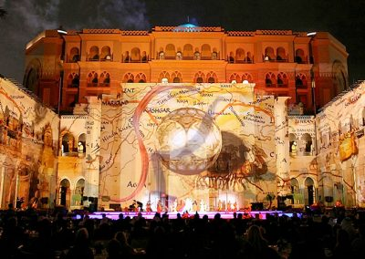 Projection on Abu Dhabi Emirates Palace